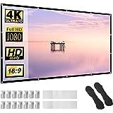 Ekran projektora 100 cali 16:9 HD składany niegniotący się przenośny ekran do kina domowego na zewnątrz wewnątrz wsparcie dwu