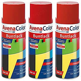 3 x Avena Color 2in1 Buntlack Spraydose Lackspray Rot