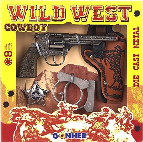 Gonher - Coffret Wild-West, Revolver Cowboy 8 Coups (157/0)