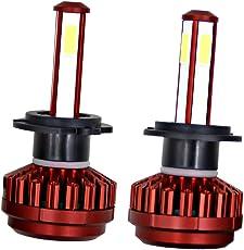 MagiDeal 2X 980W 147000LM LED Headlight Kit High/low Beam 6000K Headlamp Bulbs High Quality - H7