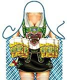 bedruckte Fun Grill Schürze - Motiv: Oktoberfest Frau - Spaß Grillschürze Kochschürze Weihnachten Tracht Nikolaus Küche