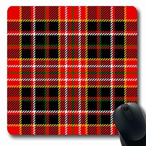 Mousepad Länglicher Streifen-rotes Weihnachtstartan-Muster-abstraktes kariertes englisches grünes schottisches Weihnachten Großbritannien Schwarzes britisches Büro-Computer-Laptop-Notizbuch-Mausunterl -