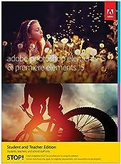 Adobe Photoshop Elements 15 & Premiere Elements 15 | Student/Teacher | PC/Mac | Disc