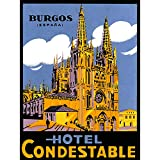 ADVERT TRAVEL CATHEDRAL HOTEL CONDESTABLE BURGOS SPAIN ESPANA ART PRINT BB7157