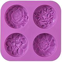 Cozihom Moules à savon en silicone en forme de fleur, moule à savon fait maison, muffin, pudding, gelée, brownie et…