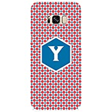 YuBingo Soft Silicone Designer Printed Mobile Back Case Cover for Samsung Galaxy S8 Plus | Youthful Letter Y (Stylish Colourful Check Pattern Printed on Plastic) | UV Printed | Waterproof | Shockproof | Slim | Light