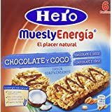 Hero - Barrita de cereales con coco y chocolate con leche, 6x25g - [pack de 5]