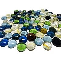 Ercole® Multi Colour Glass Stones Decorative Aquarium and Vase Fillers Pebbles for Garden & Home Decor (Transparent, 1…