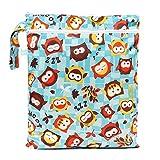 Bumkins BUMKWDB240 Wet/Dry Bag Busta per Asciutto/Bagnato, Blu (Blue Owls)