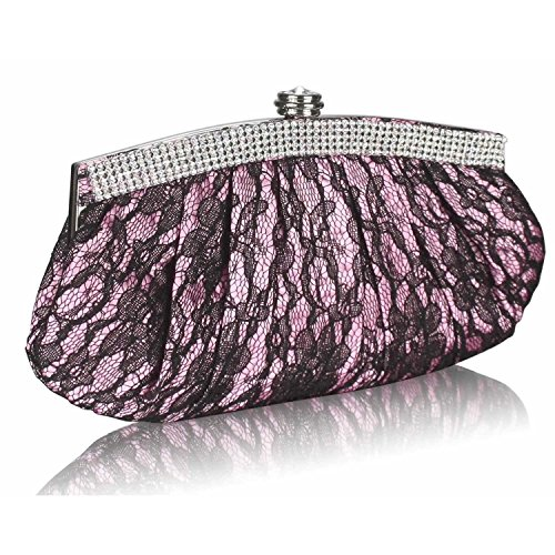 L And S Handbags, Poschette giorno donna Pink