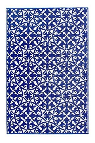 Fab Hab - Alfombra Reversible para Interior y Exterior (90 x 150...