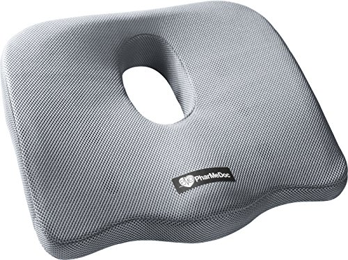 pharmedoc-coccyx-seat-cushion-gray-extreme-orthopedic-comfort-foam-pad-for-auto-home-office-2015-mod