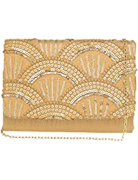 Kashish By Shoppers Stop Womens Party Wear Snap Closure Sling Clutch - B07CGCM57S