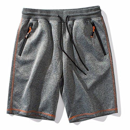Ai.Moichien Herren Boardshorts Schnell Trocknend Surfen Shorts Schwimmhose BadeShorts Casual Strand Shorts Grau