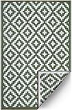 FH recyceltem Kunststoff-Home Fußmatte/Teppich–wendbar–Wetter- und UV-beständig–Azteken - Casual 4' x 6' grün