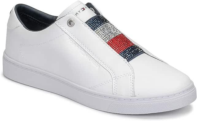 Tommy Hilfiger Crystal Leather Slip ON Sneaker Sneakers