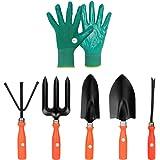 Kraft Seeds Gate Garden 5 Best Gardening Hand Tools Set with One Pair Hand Gloves for Your Garden