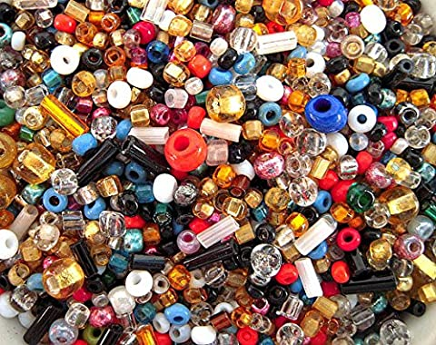 The Bead and Button Box - 40g over 500+ Mixed