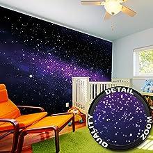 Papel pintado de una galaxia imagen mural del espacio un cielo estrellado decoración mural XXL para el cuarto de los niños + adhesivo especial