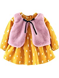 Vestido de niña, K-youth® Vestido para Niñas Vestidos Bautizo Fiesta Bebé Niña