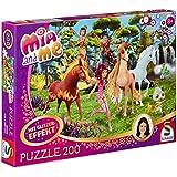 Schmidt Spiele 56069 - Mia and Me, In Centopia, 200 Teile Glitzerpuzzle