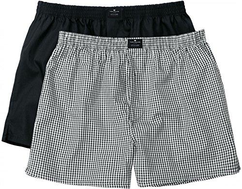 TOM TAILOR Herren Boxershorts Web-shorts 2er Pack Schwarz