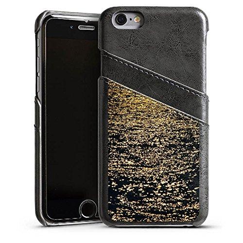 Apple iPhone 4 Housse Étui Silicone Coque Protection Mer Océan Eau Étui en cuir gris