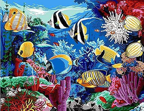 MARGOT de Paris Tapisserie/Kit de point–Poisson Tropical (Aquarium)