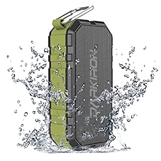 Darkiron K6 Bluetooth Lautsprecher Wasserdicht Tragbarer IPX6 Lautsprecherbox mit Verstärktem Bass Stereosound Integriertes Mikrofon Smartphone Ladefunktion