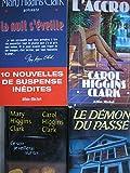 carol et mary higgins clark - lot 4 livres : ce soir je veillerai sur toi - l'accroc - la nuit s'éveille - le démon du passé
