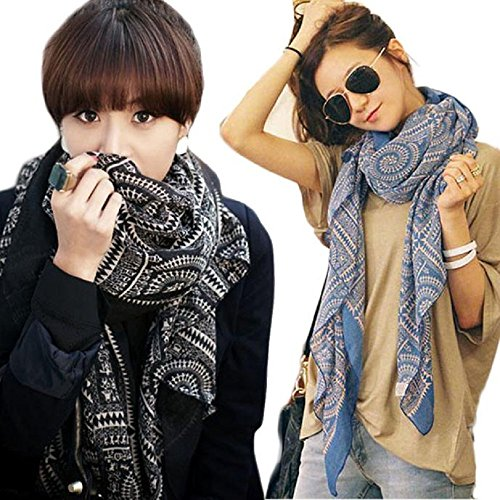 Women Scarves, Rcool Lady Women Vintage Long Soft Printed Scarves Shawl Wrap Scarf Stoles