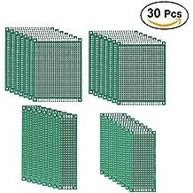 UEETEK 30pcs Prototipo de doble cara Placa PCB Kit para la mayoría de los proyectos DIY