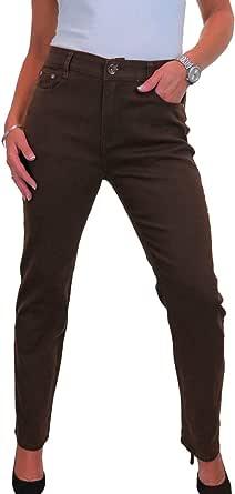 icecoolfashion Jeans Elasticizzati A Gamba Dritta A Vita Alta da Donna 46-56