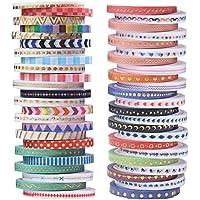 48rollos de Washi cinta de carrocero Set, 3mm de ancho cinta decorativa Collection para álbumes de recortes y manualidades, manualidades adhesivo escuela suministros