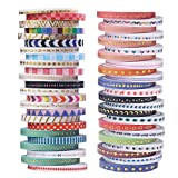 48 Rolls Washi Tape Set - 3mm Glitzer Klebeband Dekoband für Scrapbooking Dekotion DIY...
