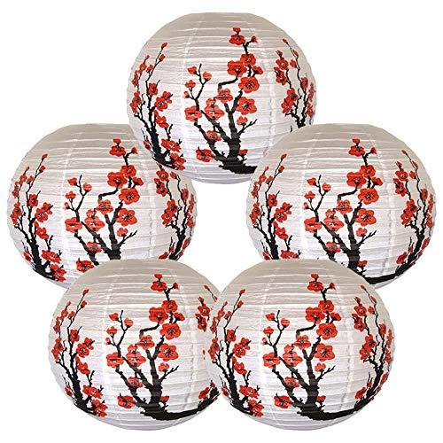 Cxjcoss [Paquete 5] Linternas papel chinas decorativas