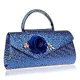 Bolso elegante del teléfono del embrague del teléfono de las flores de la cartera del embrague con el bolso largo del embrague de la sección del arco caso de las carteras para las señoras ( Style : 3 )