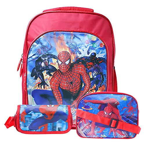 Best-Shop-Fabric-12-Ltr-Red-Schoolbag-Set-With-Pencil-Pouch-Sling-Bag