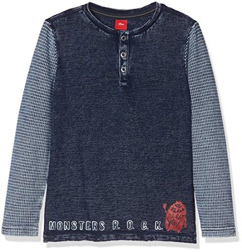 s.Oliver Jungen Langarmshirt T-Shirt Langarm, Blau (As Original 0009), 116 (Herstellergröße: 116/122) (Jungen Langarm-henley)