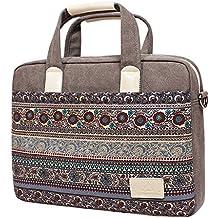 Feisman - Bolso para laptop resistente al desgaste, resistente al agua, 13-15 pulgadas, para Macbook Air Pro, maletín portátil