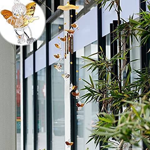 dairyshop Carillon éolien avec 4tubes pour Home Decor Yard Jardin Extérieur Living à suspendre