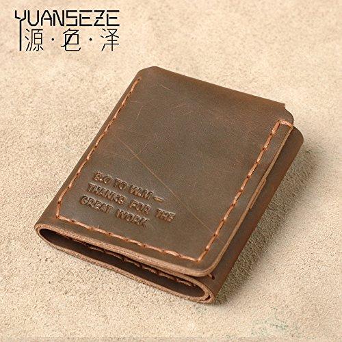 Leder Geldbörse, handgefertigte Retro ox Leder Tasche, Geldbörse, Leder Geldbörse, Hellbraun light brown