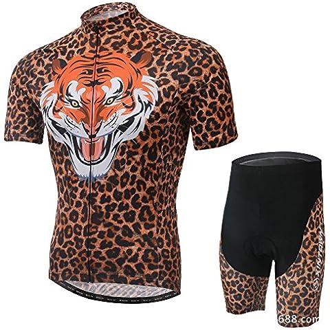 Leopardo/Tiger modello estate ciclismo maglia, manica corta 3D imbottito corto