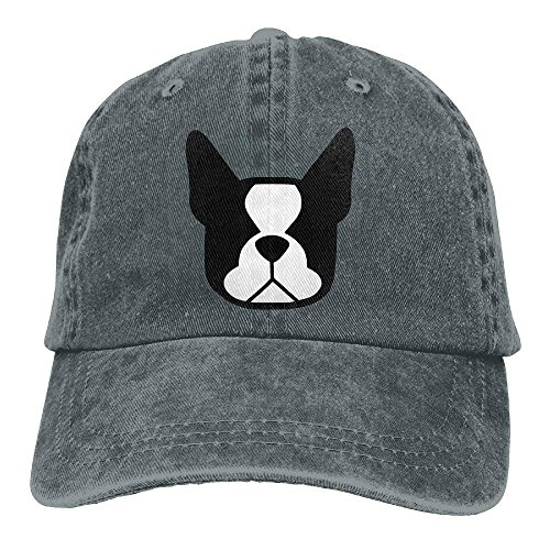 Herren Damen Baseball Caps,Hüte, Mützen, Boston Terrier Denim Baseball Caps Hat Adjustable Cotton Sport Strap Cap for Men Women - Baseball-cap Kleinkind Boston