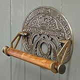 Antik-Stil Gusseisen Krone Wand montiert Küchenrollenhalter