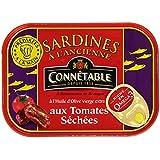 Connétables Sardines à l'huile d'olive vierge extra aux tomates séchées 115 g - Lot de 5