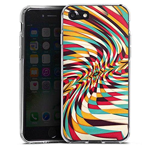 Apple iPhone X Silikon Hülle Case Schutzhülle Grafisch Muster Verzerrung Silikon Case transparent