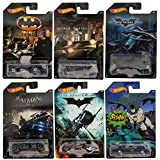 Hot Wheels Batman Completo Set de 6 De metal Cars - Batmobiles,...