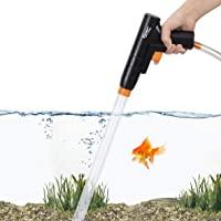 Hygger Aquarium Gravel Cleaner, Quick Water Changer with Air-Pressing Button Fish Tank Sand Cleaner Kit Aquarium Siphon…