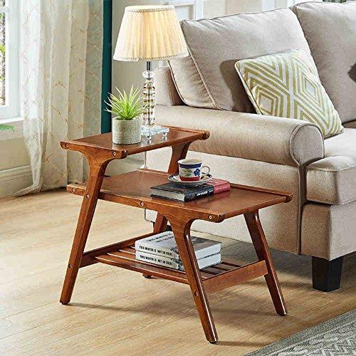 MEIDUO Estantes de pared Mesas de esquina multifuncionales Sofá Mesa de centro para sala, sala de estar, dormitorio, balcón L68.5 * W42 * H56CM muy durable ( Color : Nuez )